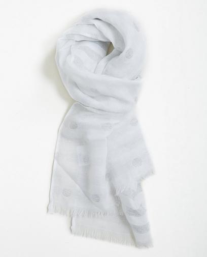 Roomwitte sjaal